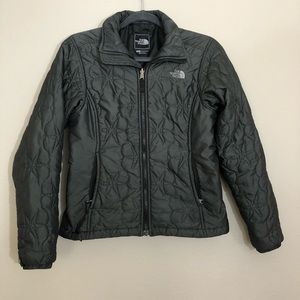 The north face gray quilted snowflake coat S